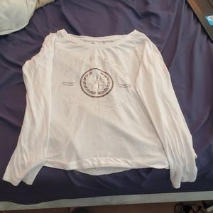Classic white thin Aeropostle long sleeve shirt